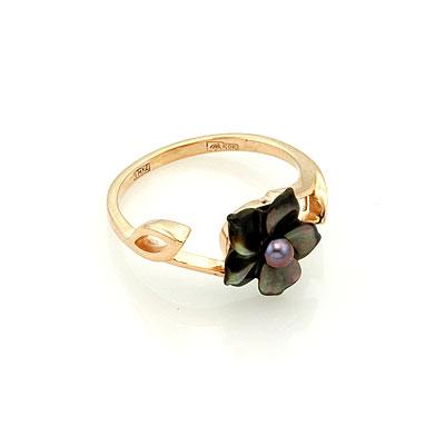 Кольцо из золота с перламутром 2.48 г SL-0217-248