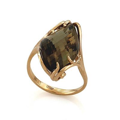 Кольцо с раухтопазом ручной огранки 5.6 г SL-0243-600