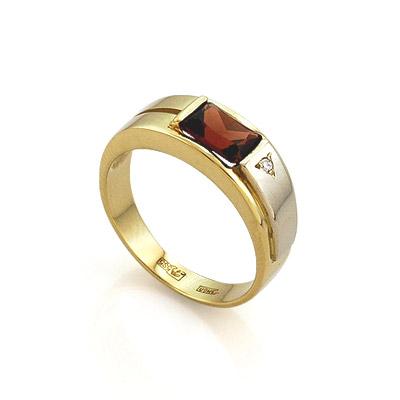 Кольцо с гранатом из желтого золота 4.7 г SLR-0160-450
