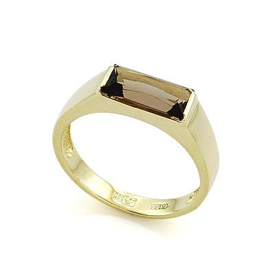 Кольцо с раух топазом 3.15 г SLR-188-300