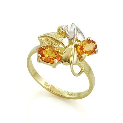 Кольцо с медовыми сапфирами 3.33 г SL-0190-333