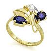 Золотое кольцо с сапфирами и бриллиантом SL-0190-331 весом 3.31 г  стоимостью 29000 р.