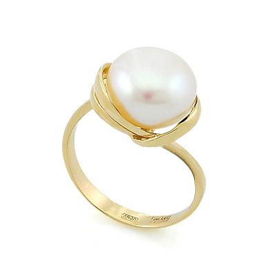 Золотое кольцо с жемчугом 6.5 г SL-2135-500