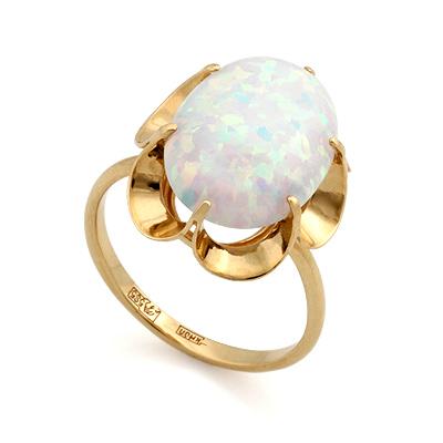 Кольцо с опалом из желтого золота 3.54 г SL-0225-350