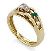 Кольцо с изумрудом и бриллиантами в золоте SLV-K112 весом 4.29 г  стоимостью 58140 р.