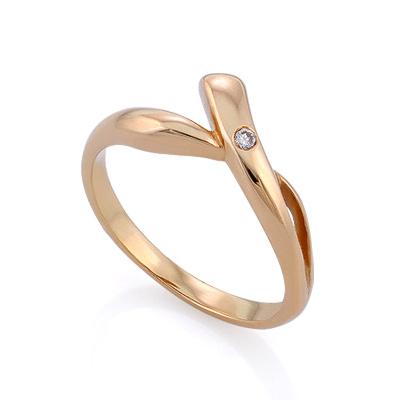 Золотое кольцо с бриллиантами 2.77 г SLV-K098