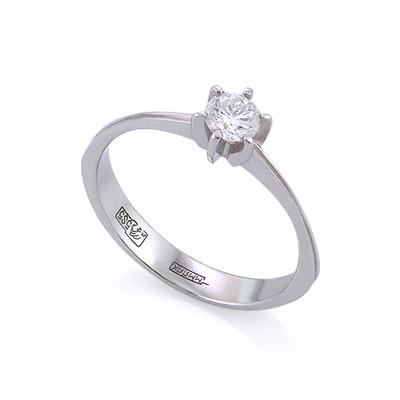Золотое кольцо с бриллиантами 1.55 г SLV-K392