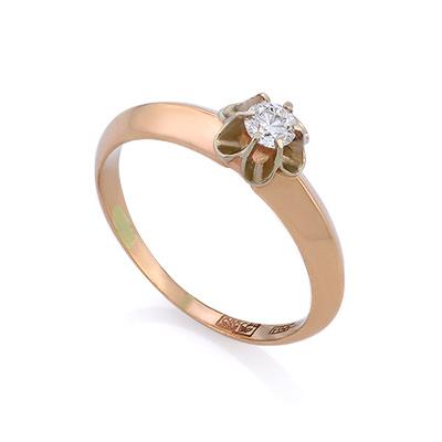 Золотое кольцо с бриллиантами 2.12 г SLV-K272