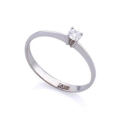 Золотое кольцо с бриллиантами 1.27 г SLV-K393
