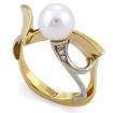 Эксклюзивное кольцо с жемчугом и бриллиантами SLV-K010 весом 6.72 г  стоимостью 37800 р.