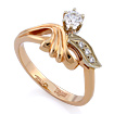 Золотое кольцо с бриллиантами SLV-K321 весом 3.82 г  стоимостью 40500 р.