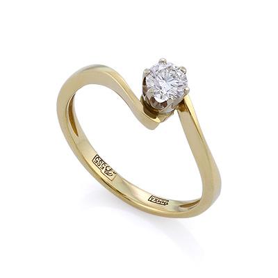 Золотое кольцо с бриллиантами 2.04 г SLV-K037