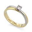Золотое кольцо с бриллиантами SLV-K036 весом 2.55 г  стоимостью 26640 р.