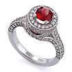 Золотое кольцо с оранжево-красным сапфиром и бриллиантами SLV-K379 весом 6.29 г  стоимостью 160200 р.
