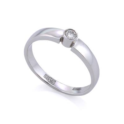 Золотое кольцо с бриллиантами 2.14 г SLV-K389