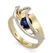 Эксклюзивное кольцо из золота с сапфиром SLV-K147 весом 4.73 г  стоимостью 32400 р.