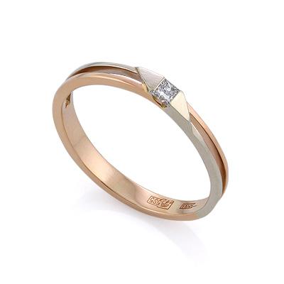 Золотое кольцо с бриллиантами 2.09 г SLV-K449