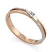 Золотое кольцо с бриллиантами SLV-K449 весом 2.09 г  стоимостью 18000 р.