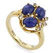 Золотое кольцо с сапфирами кабошон SLV-21621 весом 5.39 г  стоимостью 91000 р.