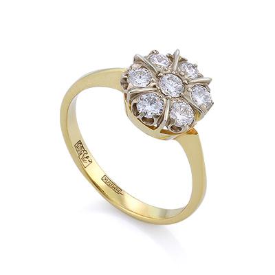Золотое кольцо с бриллиантами 2.65 г SLV-403