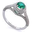 Золотое кольцо с изумрудом и бриллиантами SLV-0454 весом 2.56 г  стоимостью 256500 р.
