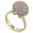 Золотое кольцо с бриллиантами SLV-433 весом 5 г  стоимостью 106200 р.