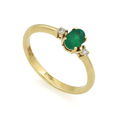 Кольцо с изумрудом и бриллиантами 2.3 г SL-0213-230