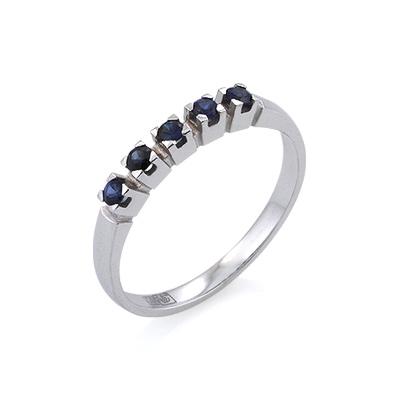 Кольцо с сапфирами дорожка 1.95 г SL-2919-195