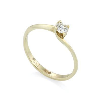Кольцо с бриллиантом 1.68 г SL-015-160