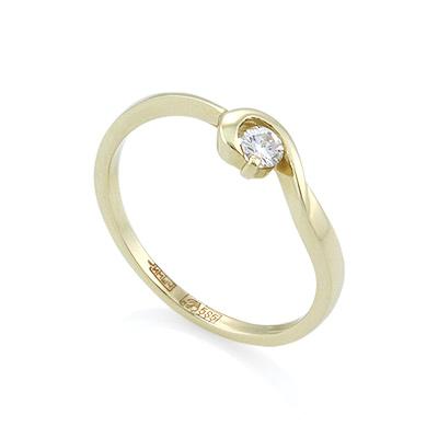Золотое кольцо с бриллиантами 2.16 г SL-016-190