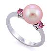 Кольцо с розовыми сапфирами и розовым жемчугом SLY-0202-350 весом 3.49 г  стоимостью 46000 р.
