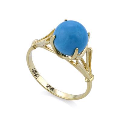 Кольцо с голубой бирюзой 2.95 г SL-0259-290