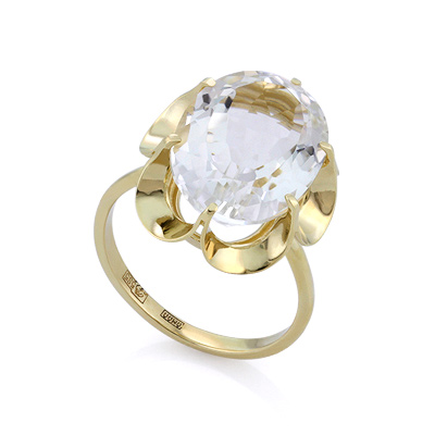 Кольцо c крупным горным хрусталем 5.8 г SL-0225-580