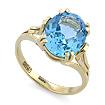 Кольцо с топазом (голубым) SLK-2854-400 весом 4.1 г  стоимостью 21320 р.