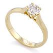 Золотое кольцо с бриллиантом 0,5 карата SLY-0216-235 весом 2.37 г  стоимостью 213500 р.
