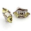 Серебряные серьги с самоцветами: цитрином и раухтопазом SL-01133-1092 весом 10.92 г  стоимостью 5600 р.