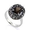 Серебряное кольцо с раухтопазом SL-0222-589 весом 5.89 г  стоимостью 2860 р.