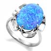 Серебряное кольцо с голубым опалом (синтетика) SL-0225-355 весом 3.55 г  стоимостью 2200 р.