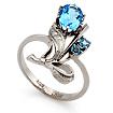Кольцо с топазом (голубым) SL-0227-343 весом 3.43 г  стоимостью 19208 р.