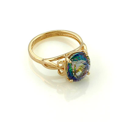Кольцо с хрусталем мистик 3.9 г SL-0235-390