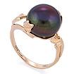 Золотое кольцо с крупным черным жемчугом SL-0242-618 весом 6.18 г  стоимостью 26574 р.