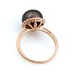 Кольцо с черной жемчужиной 4.2 г SL-0246-420