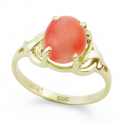 Кольцо с кораллом 2.85 г SL-0249-285