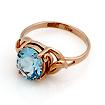 Кольцо с топазом (голубым) SL-0249-310 весом 3.1 г  стоимостью 17360 р.