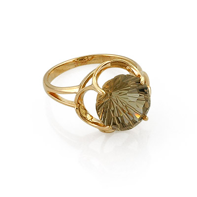 Кольцо с раухтопазом фантазийной огранки 3.7 г SL-0253-366