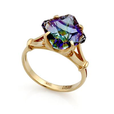 Кольцо с мистик хрусталем 3.73 г SL-0255-373