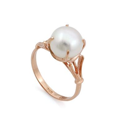 Кольцо с белой жемчужиной 3.99 г SL-0255-399