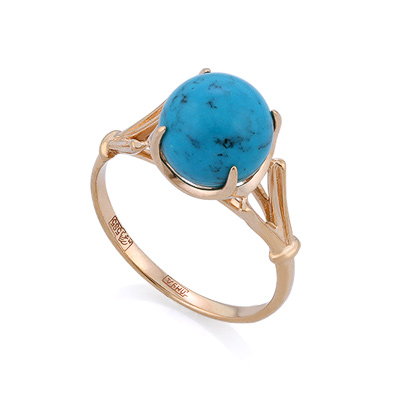 Кольцо с сетчатой бирюзой 2.93 г SL-0259-2-293
