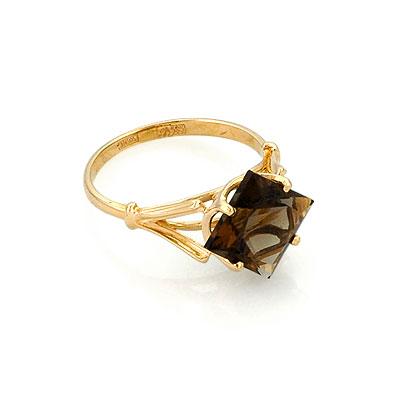 Кольцо из золота с раухтопазом 3.5 г SL-0259-256