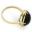 Золотое кольцо с черным ониксом 4.35 г SLK-0285-477
